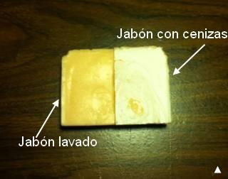 Jabon con cenizas